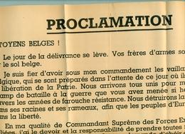 Proclamation De Délivrance ( Général Eisenhower ) - 1939-45