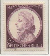 PIA - GERMANIA - 1941  : 150° Anniversario Della Morte Di Mozart -  (Yv 754) - Musica