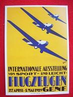 RIPRODUZIONE DI UN POSTER FLUGZEUGEN  GENF - 1946-....: Modern Era