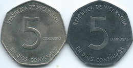 Nicaragua - 5 Córdoba - 1980 (KM44) & 1984 (KM44a) - Nicaragua