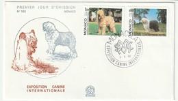 FDC - MONACO - N° 1329/30 (1982) Exposition Canine : Bobtail Et Briard - FDC
