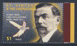St. Vincent 1995 Mi 3283 SG 3103 ** Alfred Hermann Fried (1864-1921) Nobel Prize For Peace (1911) - Nobelprijs