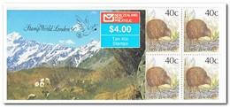 Nieuw Zeeland 1990, Postfris MNH, Birds, Overprint Stamp World London 90 ( Booklet, Carnet ) - Boekjes
