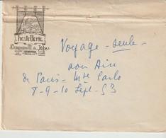 ENVELOPPE - HOSTELLERIE DES COMPAGNONS DE JEHU - DOUILLET GITE - HAUTE RIPAILLE - PNTANEVAUX - DE PARIS A LA MEDITERRANE - Documenti Storici