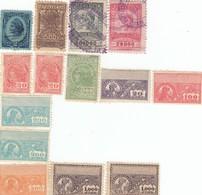 12554-LOTTICINO N°. 14 MARCHE DA BOLLO FISCALI BRASILE - Altri