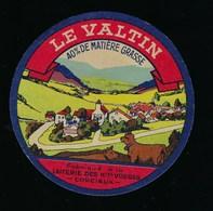 """Etiquette Fromage  Le Valtin  Fabriqué à La Laiterie De Corcieux  Vosges 88 """" Viillage Vache"""" - Fromage"""