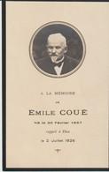 LETTRE AVEC SON ENVELOPPE DE LA VEUVE D'ÉMILE COUÉ - 1857 - 1926 - MÉTHODE COUÉ - PHARMACIEN PSYCHOLOGUE - APRES SA MORT - Historical Documents