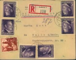 GENERALGOUVERNEMENT 1942, Dekratives Einschreiben Ab LUBLIN - Occupation 1938-45