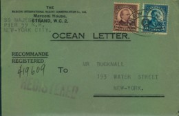 """1926, OCEAN LETTER """"S.S. MAJESTIC"""" In New York. - United States"""