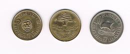 //  LIBANON  5 + 2 X 10 PIASTRES  1955/1970/1961 - Liban
