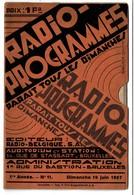 Radio-Programmes - Radio-Belgique - Juin 1927 - 32 Pp. - 17 X 11 Cm - 6 Scans - Programs