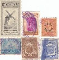 12555-LOTTICINO N°. 6 MARCHE DA BOLLO FISCALI CUBA-PERU'-PANAMA - Postzegels