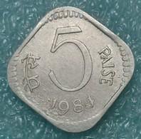 India 5 Paise, 1984 W/o Mintmark - Calcutta -1269 - Inde