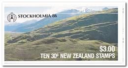 Nieuw Zeeland 1986, Postfris MNH, Birds, Overprint Stockholmia 86 ( Booklet, Carnet ) - Cuadernillos/libretas