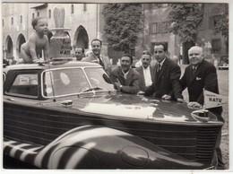 AUTO MOTOSCAFO CAR VOITURE NON IDENTIFICATA - FOTO ORIGINALE MANTOVA 1957 - Automobili