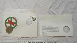 1992 PORTUGAL 200 ECSCUDOS COIN TOKEN PROMO AD Republica Portuguesa CARD Postcard EUROPE STAMP LISBOA  CEE - Other