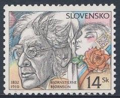 Slowakei Slovakia 2002 Mi 415 SG 378 ** Björnstjerne Björnson (1832-1910), Schriftsteller, Nobelpreis Literature (1903) - Nobelprijs