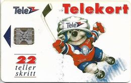 Norway - Telenor - Icehockey - N-006F2 (Cn. 45595), SC5 - 01.1993, 9.000ex, Used - Norwegen