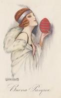 ART DECO ; NANNI ;  Woman Holds An Egg , 1923 - Nanni