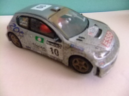 SCALEXTRIC PEUGEOT 206 WRC Efecto Barro N 10 Luneta Trasera Rota - Circuitos Automóviles