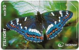 Norway - Telenor - Ospesommerfugl Butterfly - N-209 - 07.2001, 17.000ex, Used - Norway