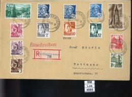 All. Besetzung, Franz. Zone, Baden, O, 1 - 13, Satzbrief (Einschreiben - Gelaufen), Überlingen - French Zone