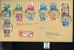 All. Besetzung, Franz. Zone, Württemberg, O, 1 - 13, Satzbrief (Einschreiben - Gelaufen), Meckenbeuren 1948 - Französische Zone