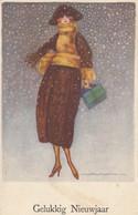 ART DECO ; NANNI ;  Female Fashion Portrait #2 , CHRISTMAS, 1910-20s - Nanni