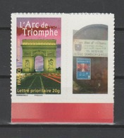 FRANCE / 2007 / Y&T N° 3599B ** (ex 4027) Ou AA 313A ** : Arc De Triomphe Adhésif (vignette PHOTO) BdF - RARE ! - France