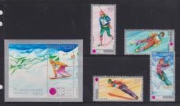 Poland 1972 Winter Olympics Set Of 4 + Minisheet MNH - 1944-.... Republic