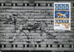 45668 Germany Ddr, Maximum 1966 Mosaic Exhibition Of The Throne Of Babylon, Mi-1232 - DDR