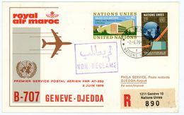 "Royal Air Maroc Erstflug ""Genf - Djedda"" 1976 - Marokko (1956-...)"