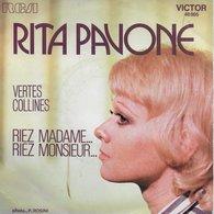 """Rita Pavone 45t. SP """"vertes Collines"""" - Dischi In Vinile"""