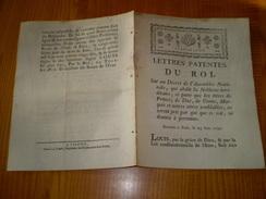 Lettres Patentes Louis XVI,1790: Abolition Noblesse Héréditaire,suppression Prince,Duc,Comte,Marquis,Monseigneur - Historical Documents