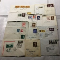 OS37)AUSTRIA 1950-60  Storia Postale Lotto 28 Buste Viaggiate Raccomandate Ordinarie E  Aeree - 1945-.... 2nd Republic