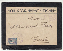 Russia R.O.P.i T. Levant Letter Cover Travelled 1913 Mytilene Greece To Trieste  B190615 - Turkish Empire