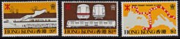 A0300 HONG KONG 1979, SG 384-6  Mass Transit Railway,  MNH - Hong Kong (...-1997)