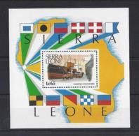 """SIERRA LEONE...QUEEN ELIZABETH II.(1952-NOW)....."""" SHIPPING.""""...MS1155.. MINI SHEETS..MH.. - Sierra Leone (1961-...)"""
