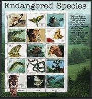 USA 1996 Scott 3105 MNH Sheet Endangered Species - Nuovi