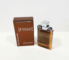 Miniatures De Parfum MÉMOIRE D'HOMME  De NINA RICCI  EDT  5 Ml + Boite - Mignon Di Profumo Uomo (con Box)
