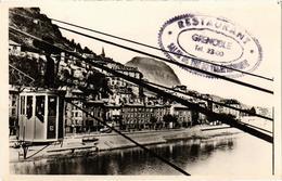 Grenoble Le Téléférique Et Les Quais Cachet Du Restaurant Salon De Thé Du S Téléférique - Grenoble