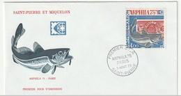 FDC - ST PIERRE & MIQUELON - PA N°60 (1975) Arphila - FDC