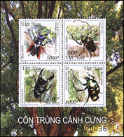 Vietnam. 2015. Insects - Beetles (MNH OG) Miniature Sheet - Vietnam