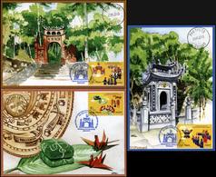 Vietnam. 2015. Religious Worship Of Hung Vuong (Mint) Set Of 3 Maxi Cards - Vietnam