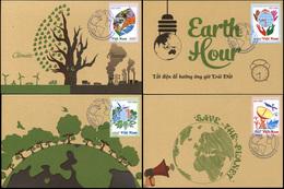 Vietnam. 2015. Climate Change (Mint) Set Of 4 Maxi Cards - Vietnam