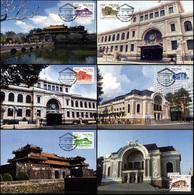 Vietnam. 2014. Architecture (Mint) Set Of 6 Maxi Cards - Vietnam