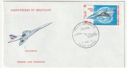 FDC - ST PIERRE & MIQUELON - PA N°62 (1976) Concorde - FDC