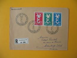 Luxembourg  1958  Enveloppe Recommandé Pour La France   Europa  N° 548 à 450    à Voir - Marcofilie - EMA (Print Machine)