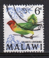 Malawi 1968 Single 6d Stamp From The Bird Definitive Set. - Malawi (1964-...)