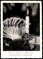 ALTE POSTKARTE GELDSCHEIN 100 DEUTSCHE MARK BUNDESBANK Käfer Neujahr Money Monnaie Billet De Banque Bank Note Coins Geld - Münzen (Abb.)